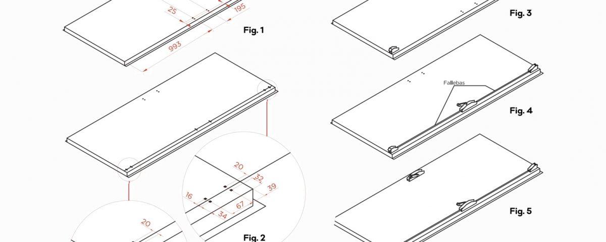 Panic device installation drawings