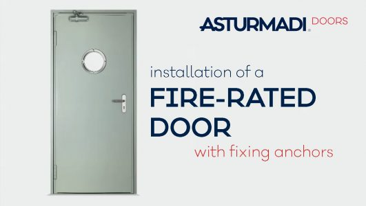instructions for installing a fire rated door
